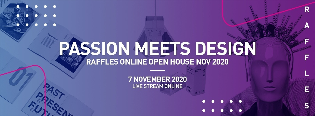 raffles online open house 2020 passion meets design header banner