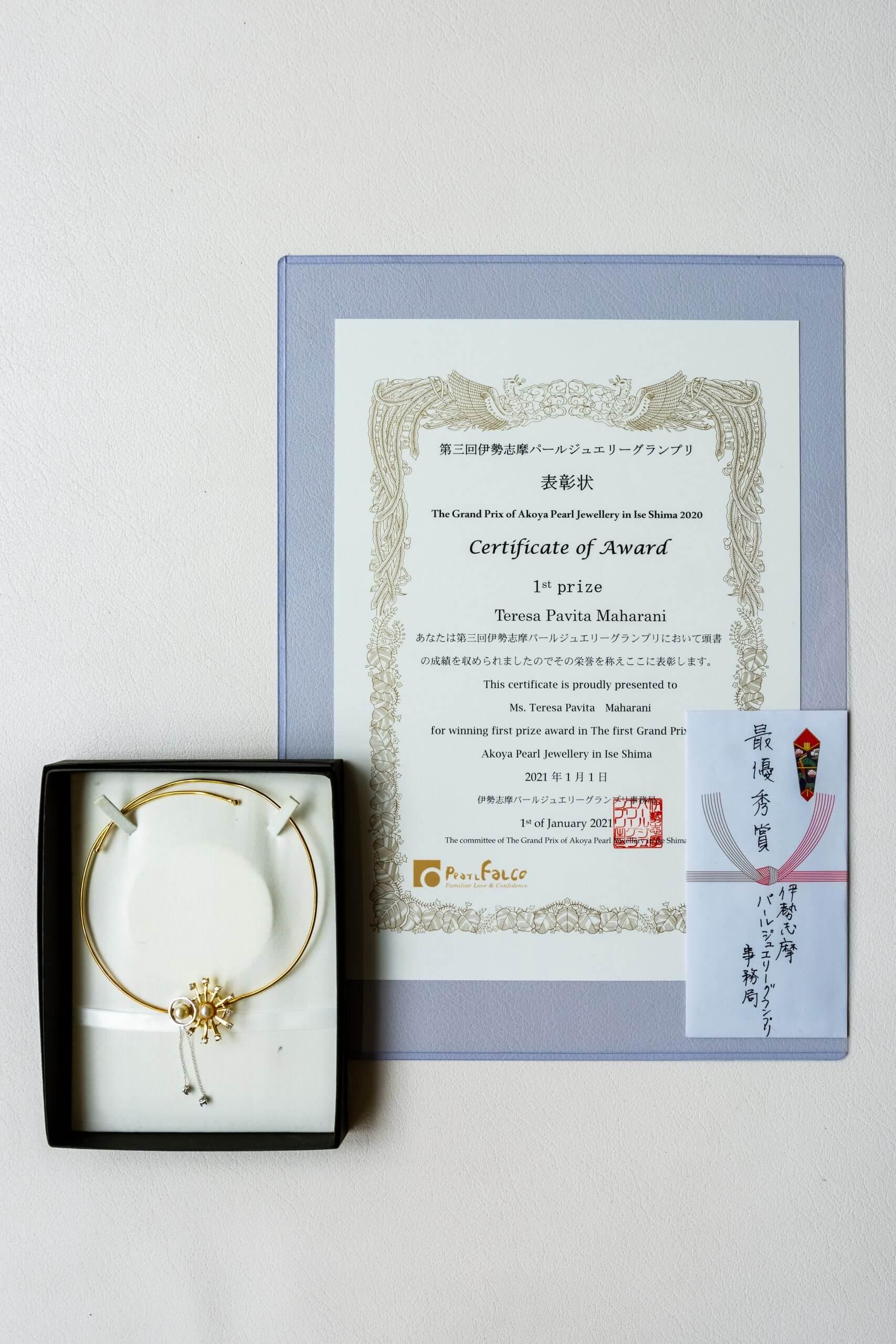 award certificate for winner teresa