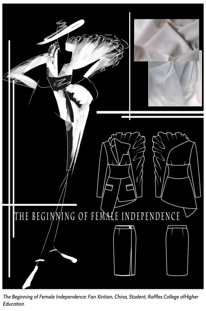 the beginning of female independence fan xin tian frankfurt style awards 2020 moodboard