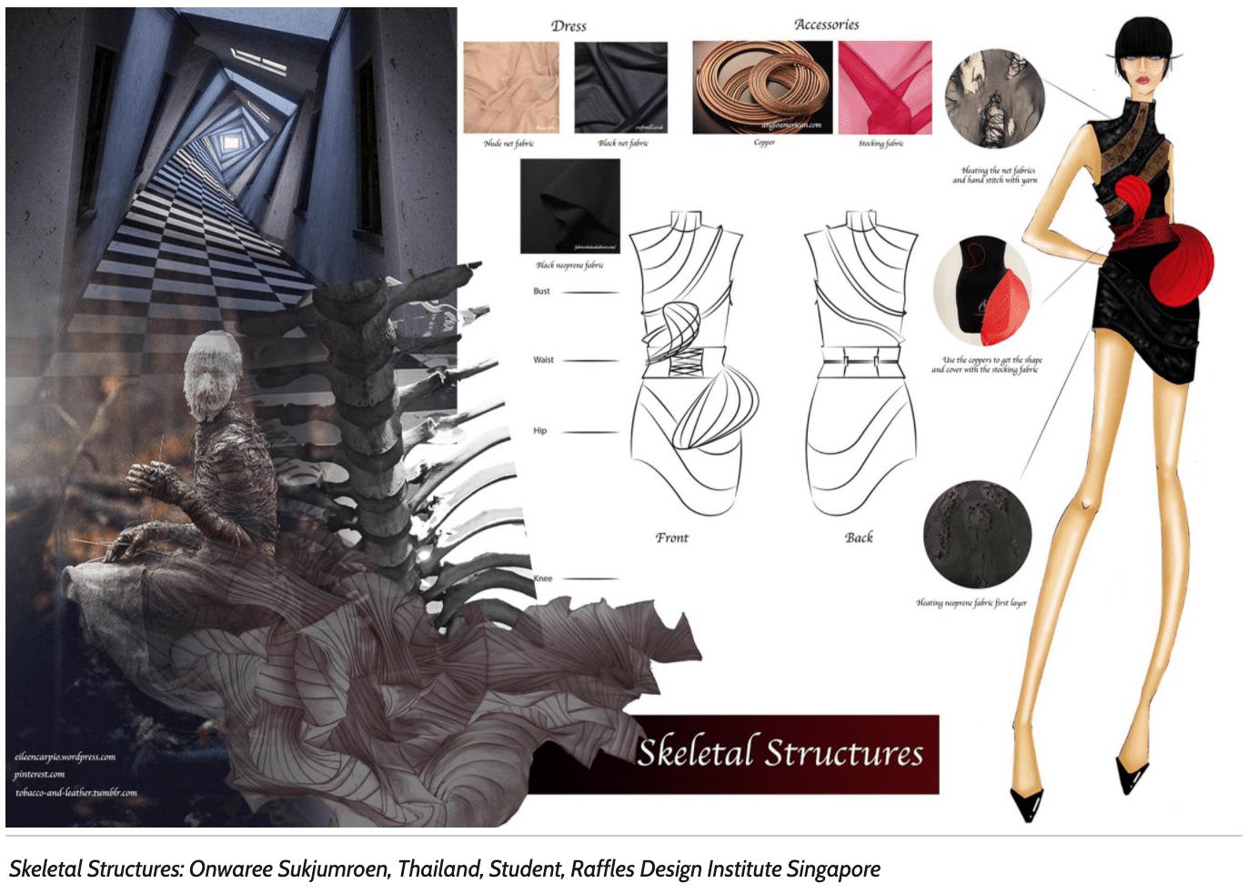 skeletal structure onwaree sukjumreon moodboard