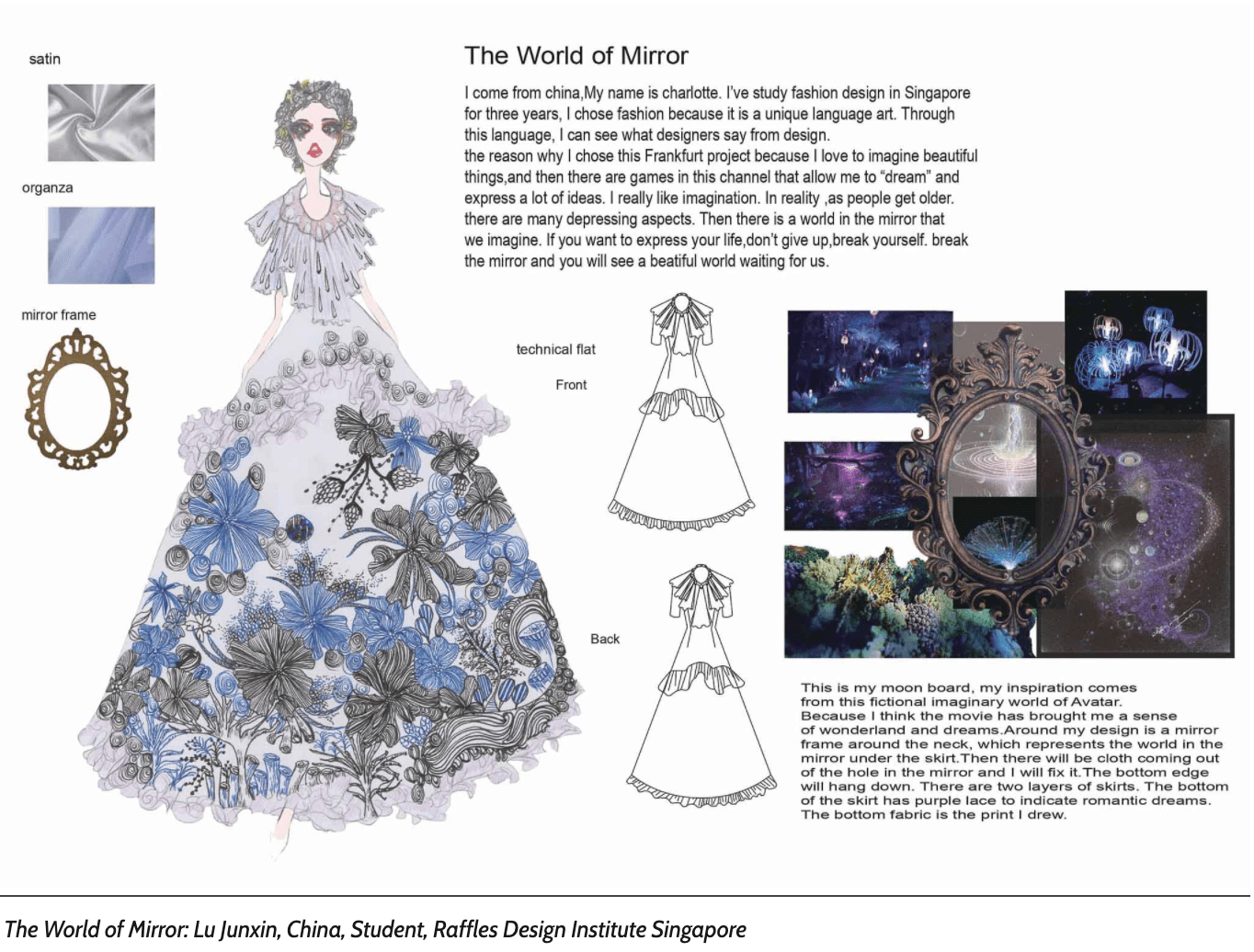 the word of mirrior lu junxin raffles fashion designer moodboard