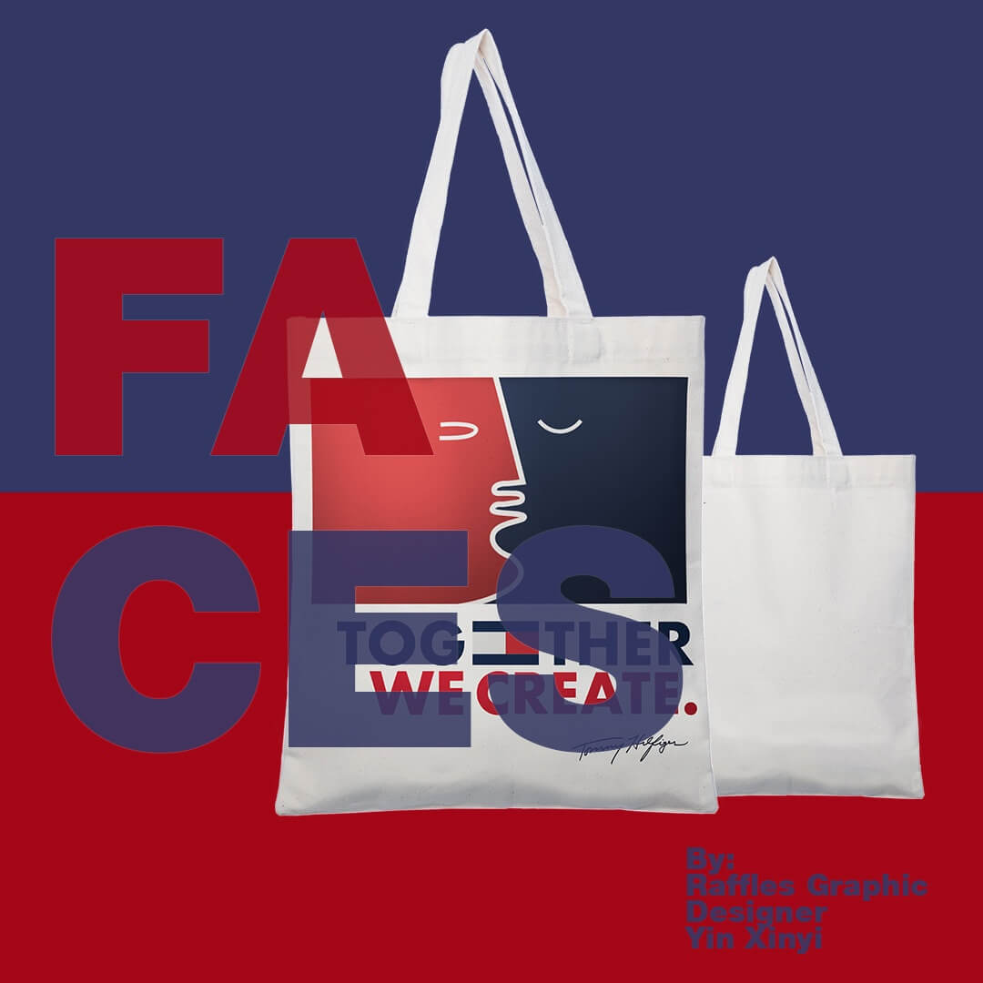 Faces Tommy Hilfiger tote Bag advertisement