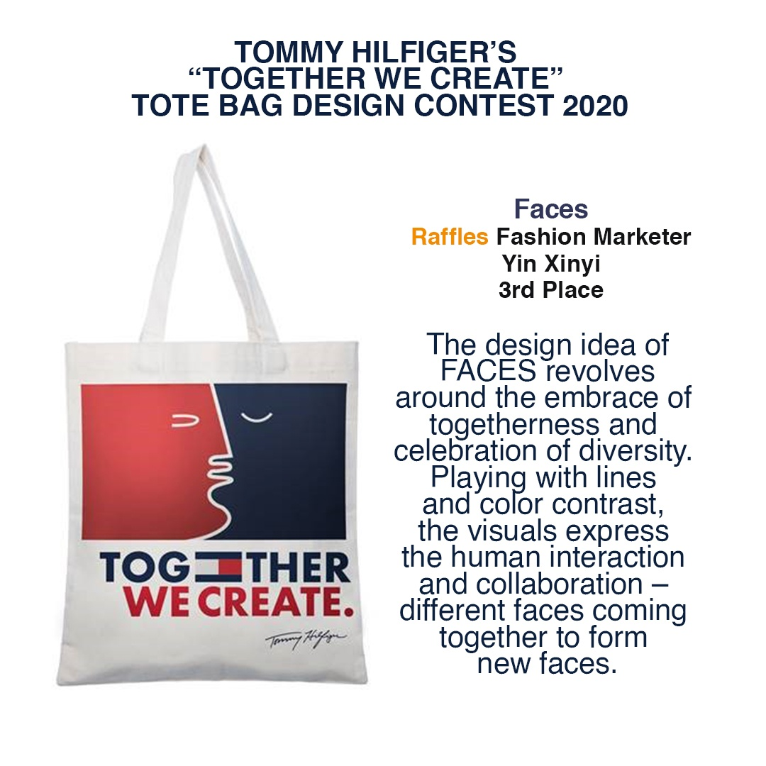 Faces Yin Xinyi Tommy Hilfiger tote bag