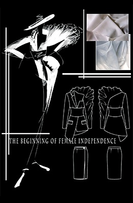 the beginning of female independence feature image mood board