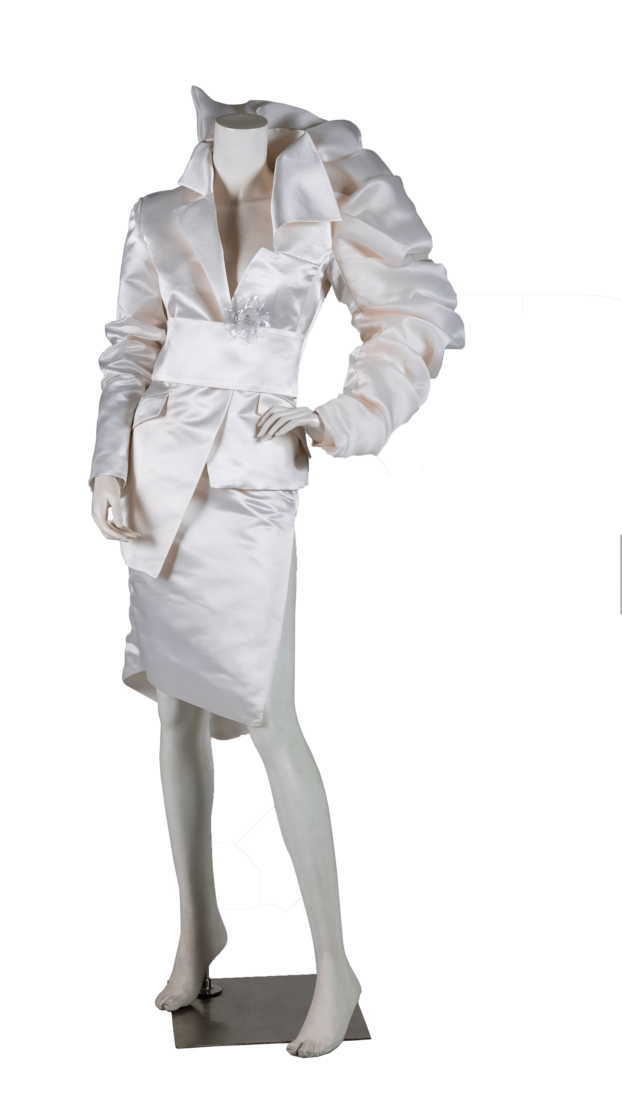 the beginning of female independence white dress close up