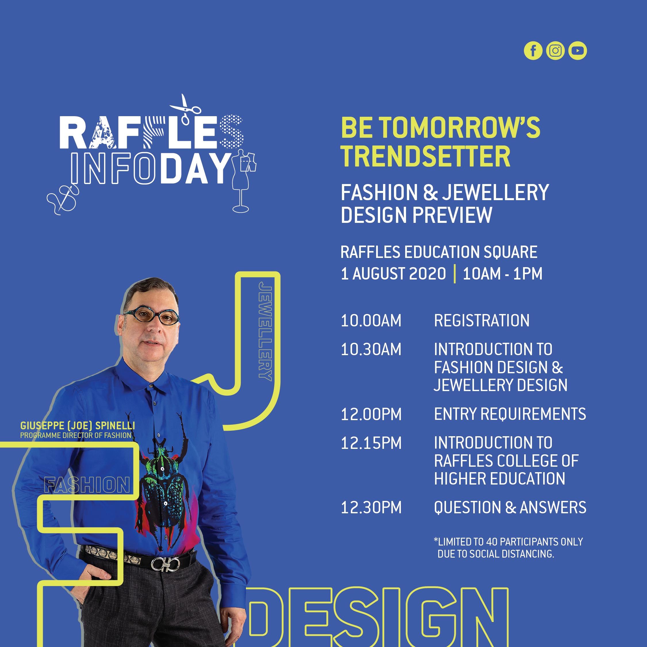 raffles infoday july 2020 poster