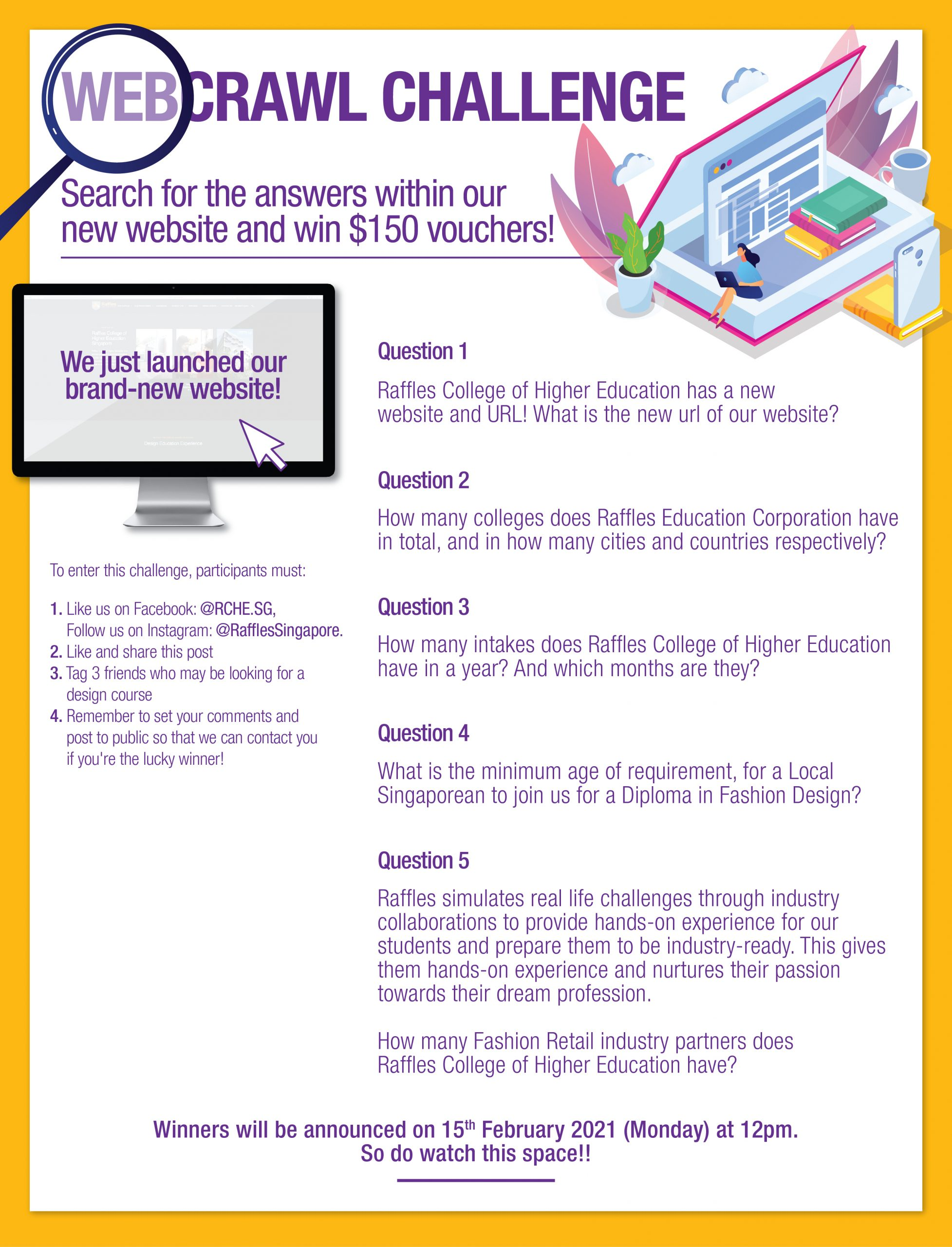 Raffles Webcrawl Challenge competition steps