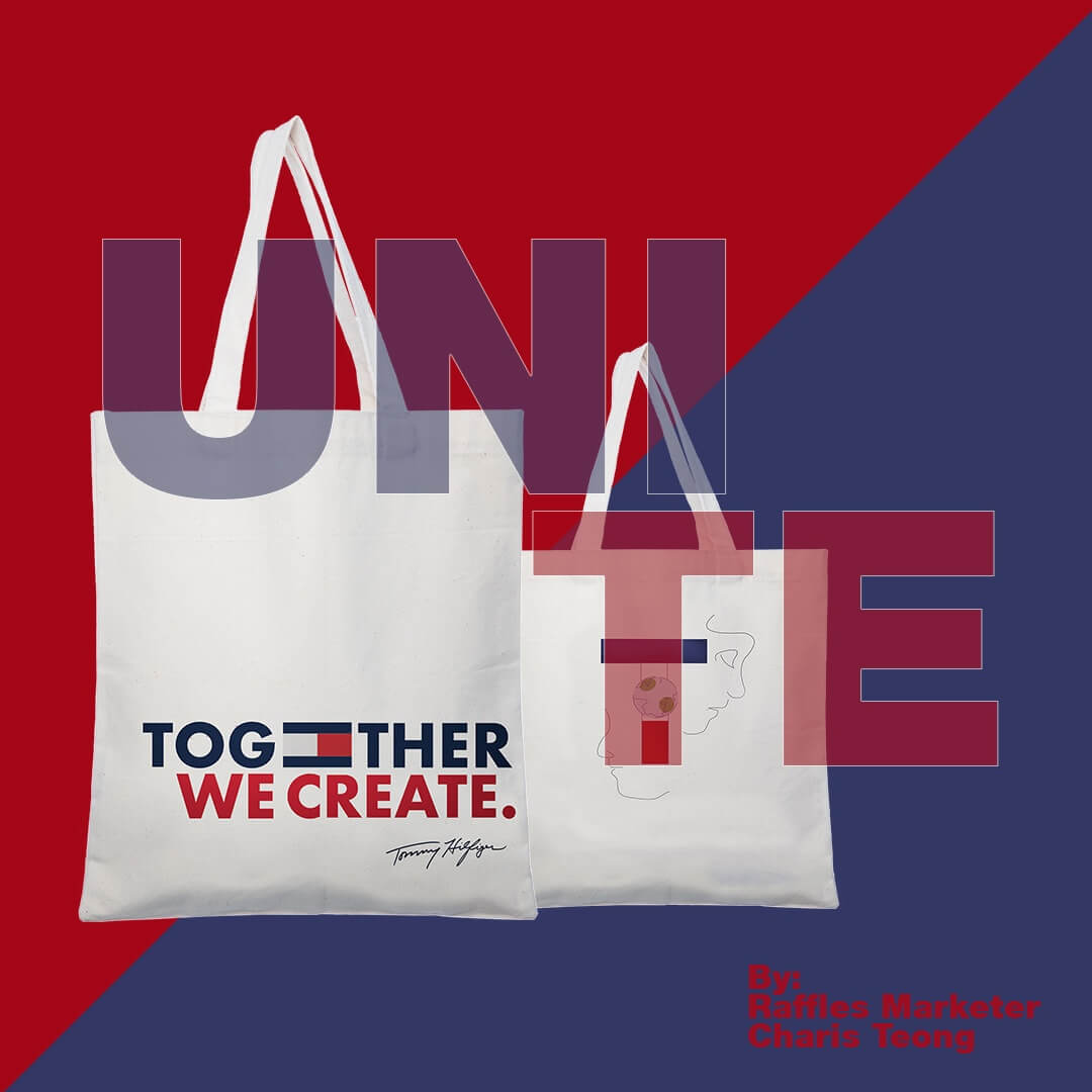 Unite Tommy Hilfiger tote bag advertisement