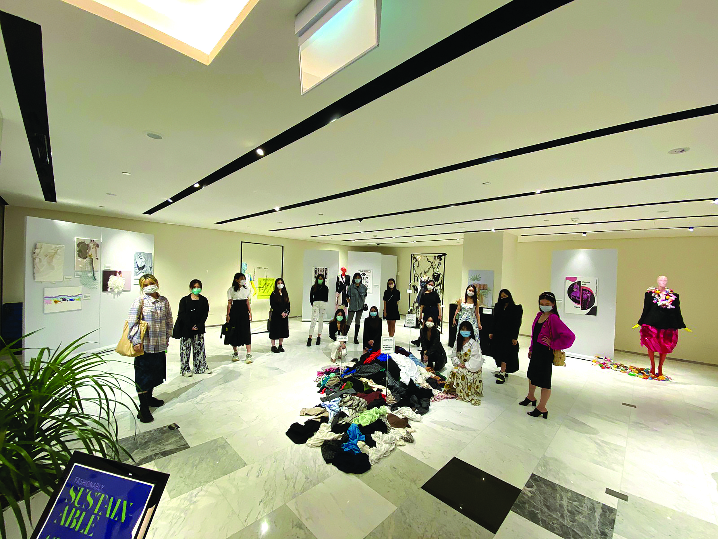 raffles fashion designers and marketers design sustainably exhibition