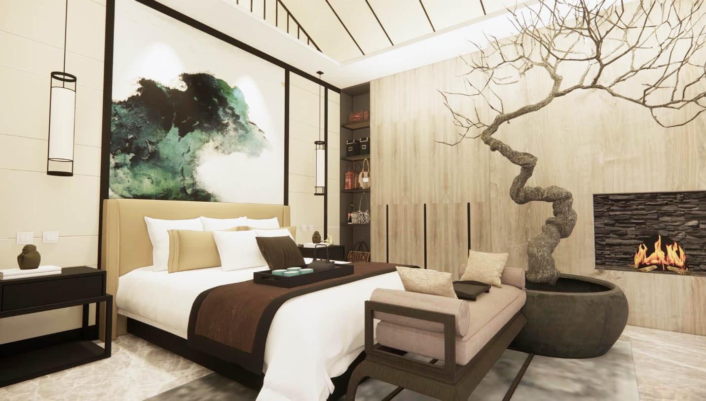 Neoteric Oriental Residence Bedroom