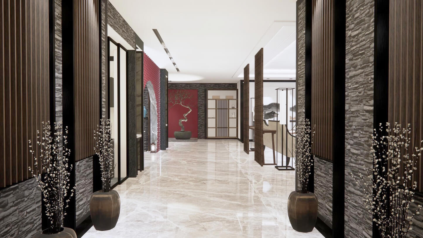 Neoteric Oriental Residence Hallway