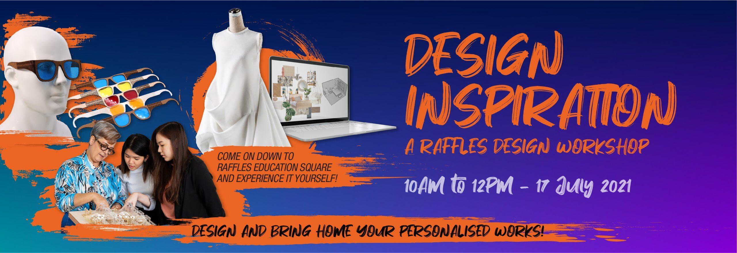 Design Inspiration a Raffles Design Workshop header banner