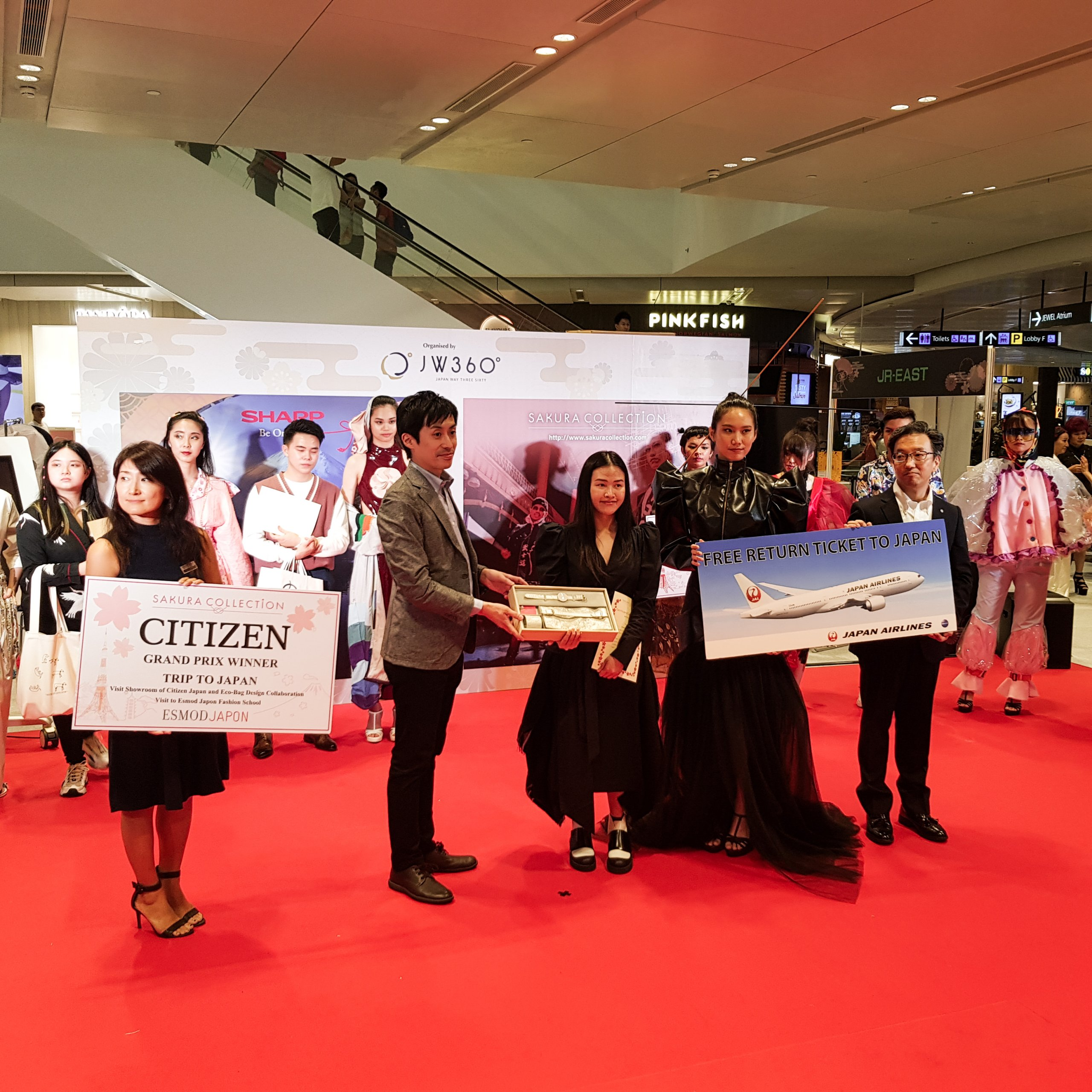 Sakura Collection Asia Student Awards 2020 Award ceremony Jewel Changi Airport International Presentation