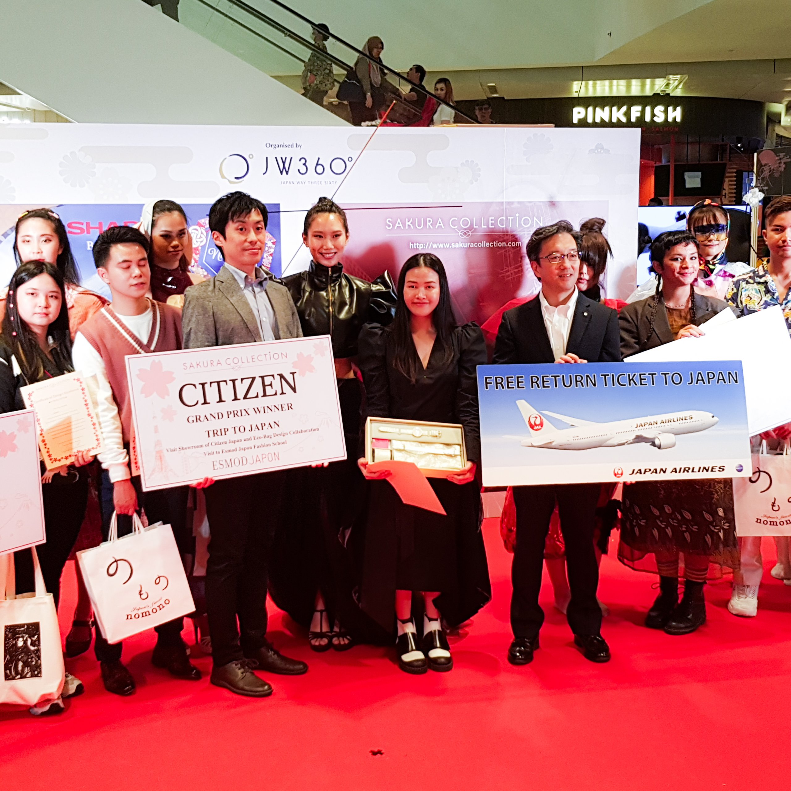 Sakura Collection Asia Student Awards 2020 Award ceremony Jewel Changi Airport International Winner Onwaree Sukjumreon