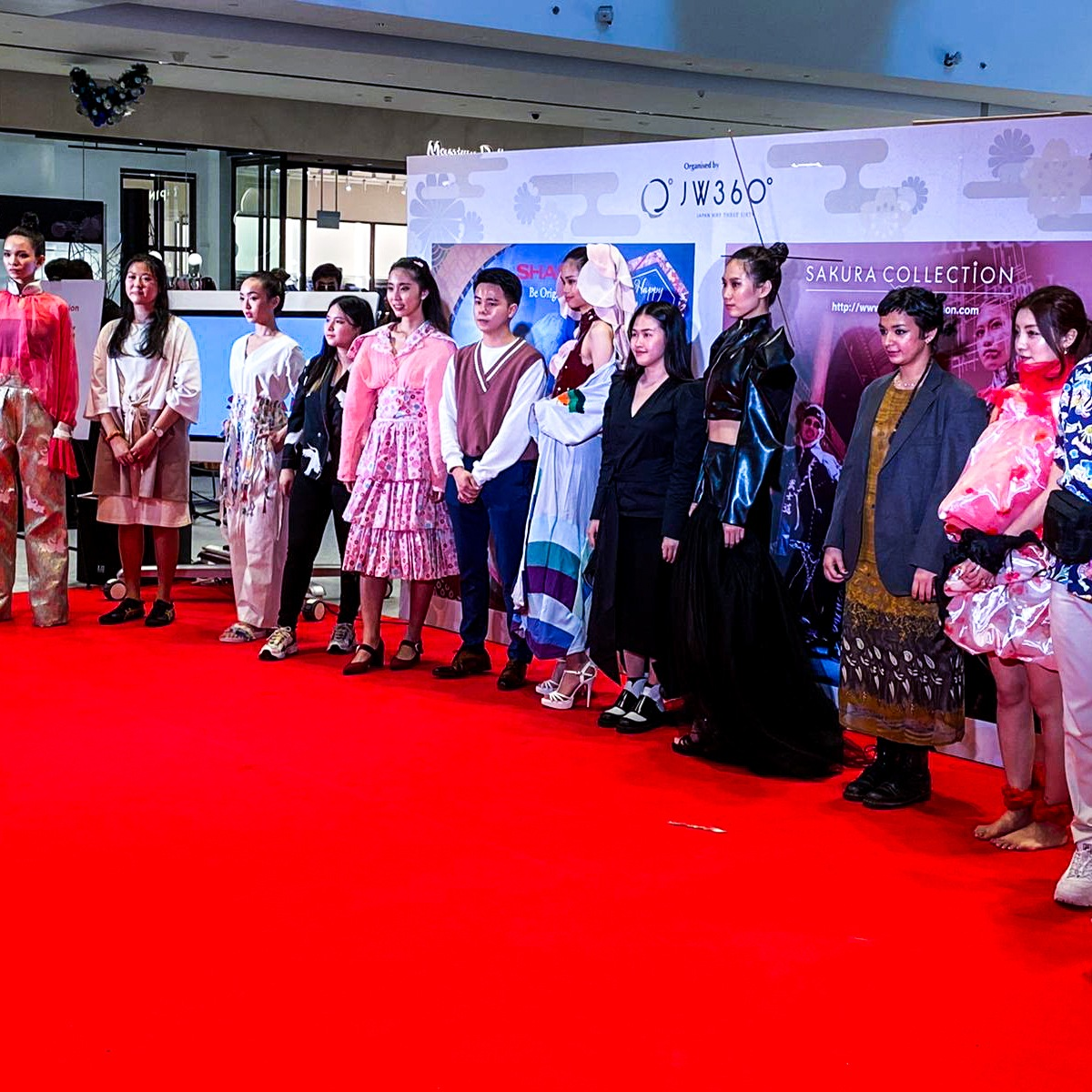 Sakura Collection Asia Student Awards 2020 Award ceremony Jewel Changi Airport International All designers and design on models