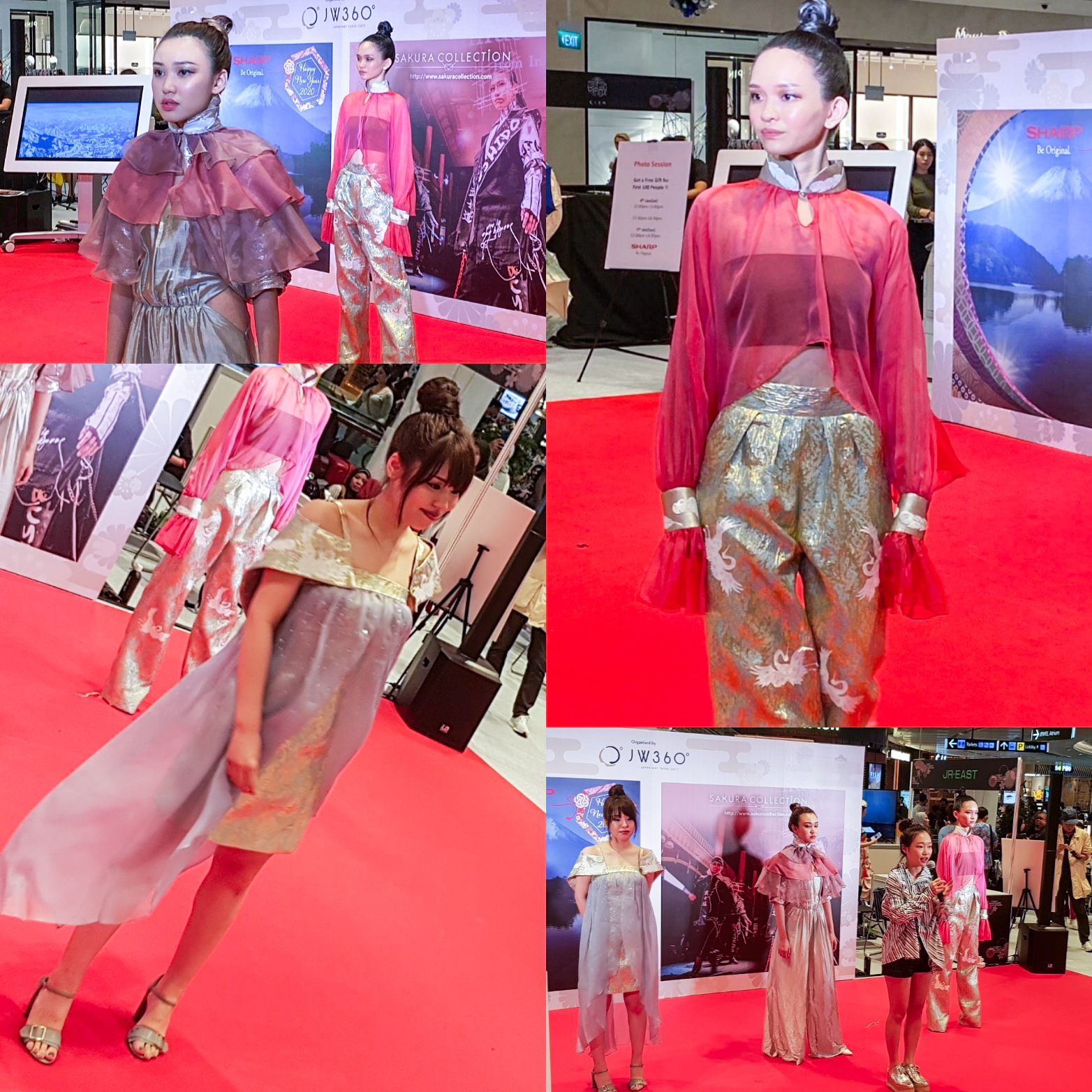 Sakura Collection Asia Student Awards 2020 Award ceremony Jewel Changi Airport International Modeling collections