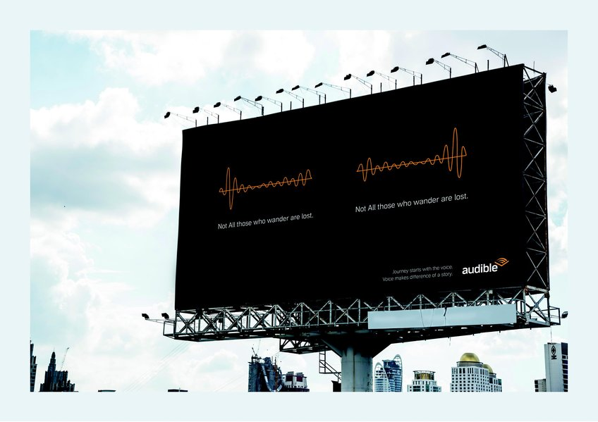D&AD New Blood Awards 2020 Wood Pencil Billboard Mock Up Audible