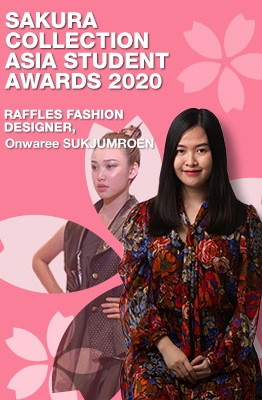 Sakura Collection Asia Student Awards 2020 winner Raffles Fashion Designer Onwaree Sukjumroen