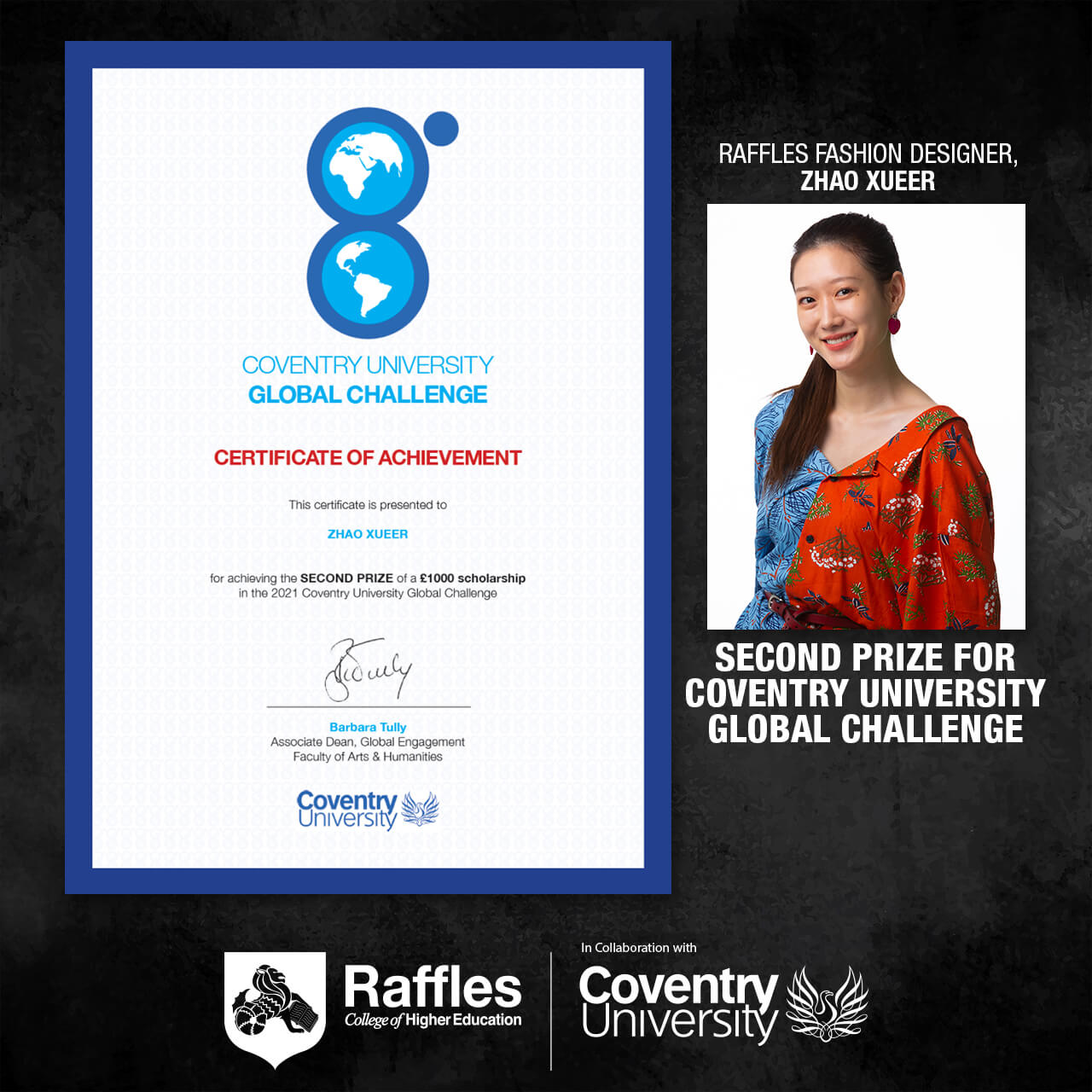2021 Coventry University Global Challenge 2nd Prize Zhao Xueer Banner
