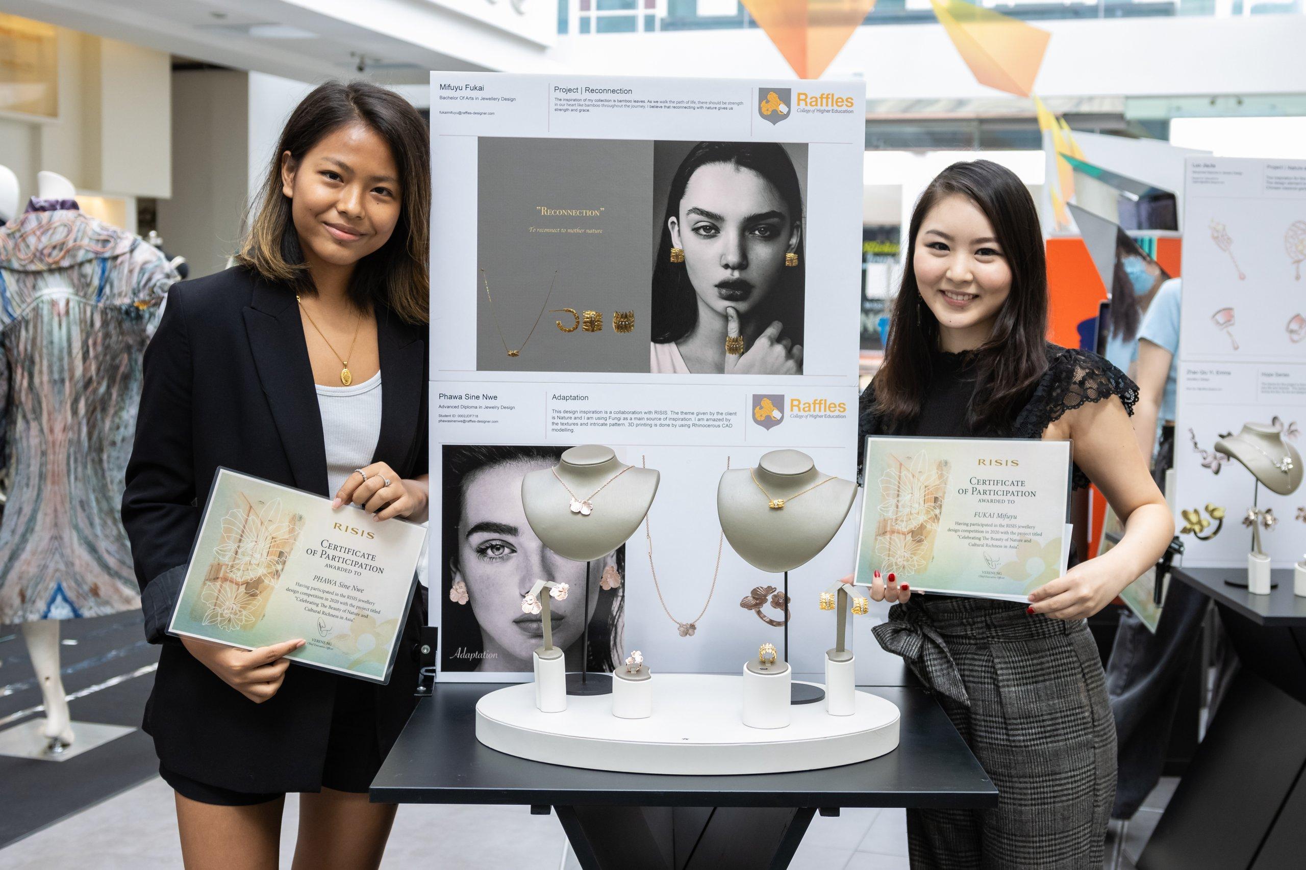 RISIS Raffles Jewellery Design Competition 2020 Phawa Sine Nwe Mifuyu Fukai Winners