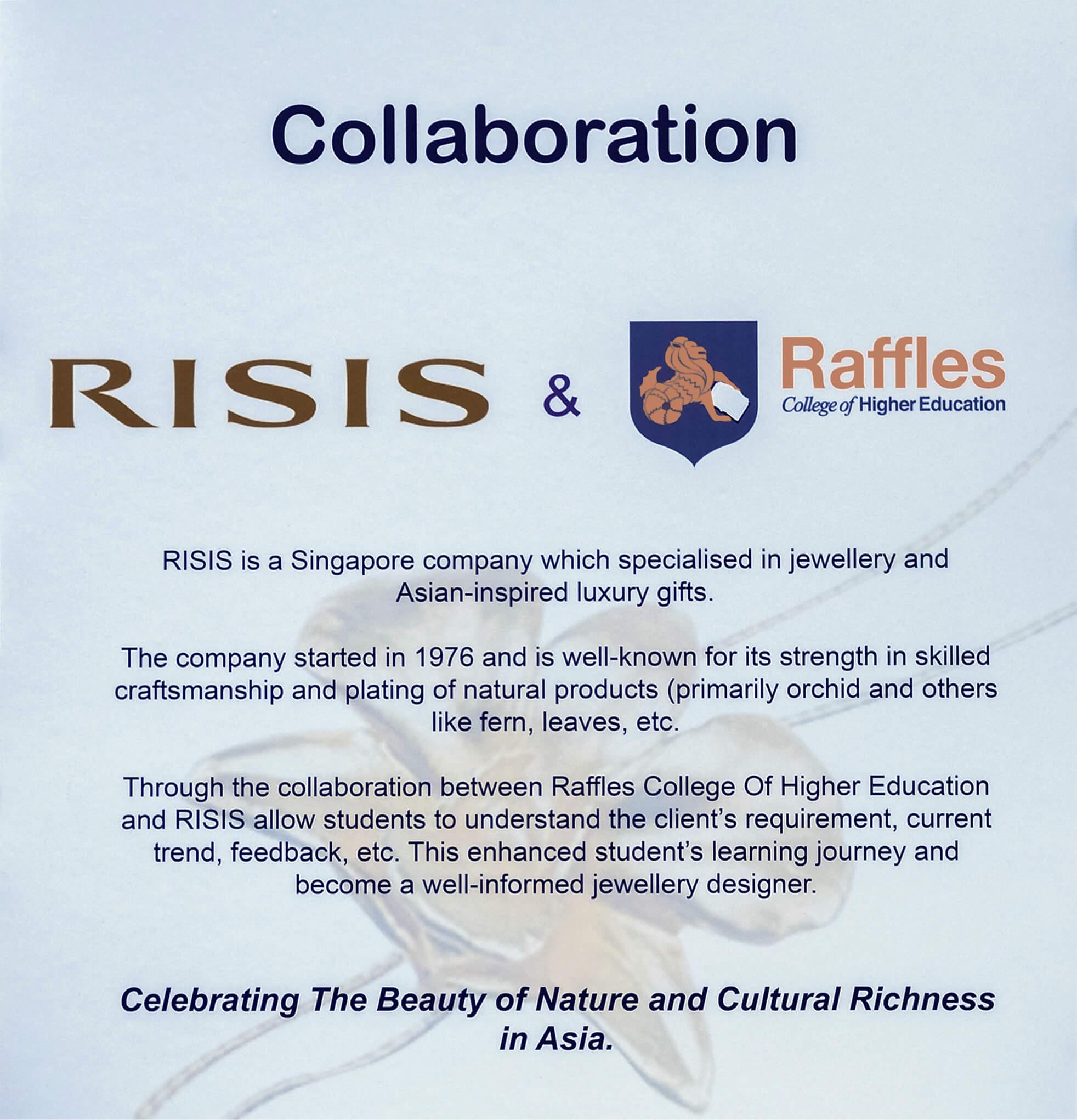 RISIS x Raffles Collaboration Poster 2020