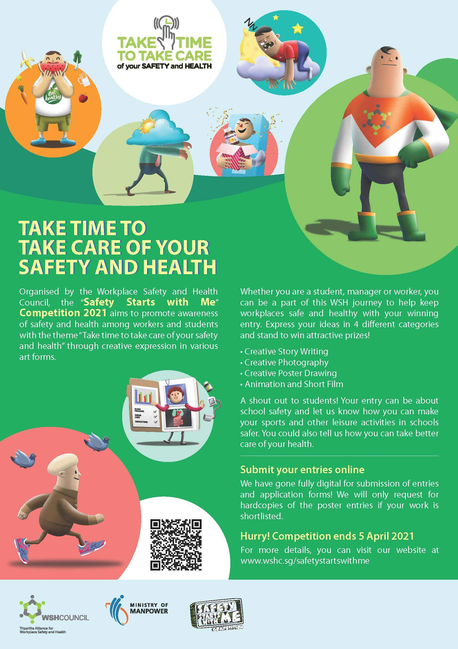 Safety Starts with Me Design Competition WSHCouncil Poster